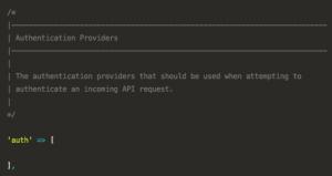 Original API Auth Configuration
