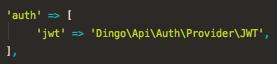 Dingo API using JWT Auth