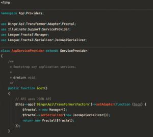 Dingo API JSON API serializer